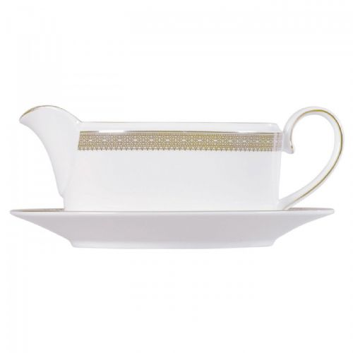 Vera Wang Lace Gold Sauce Boat Stand